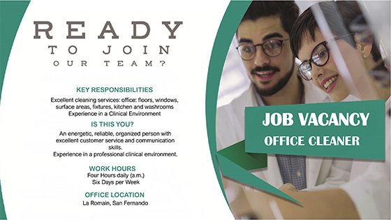 Job Vacancy AD - Office Cleaner